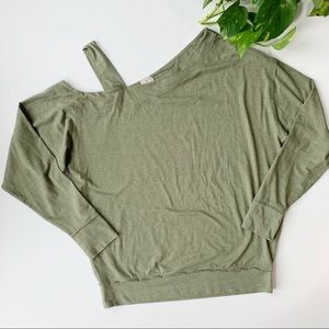 Free People | Olive Green Slouchy Pullover sz S